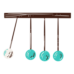 Newton's cradle science hand drawn element