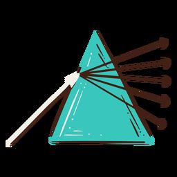 Newton prism science illustration