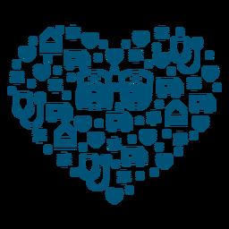 Composición del corazón de enfermeras
