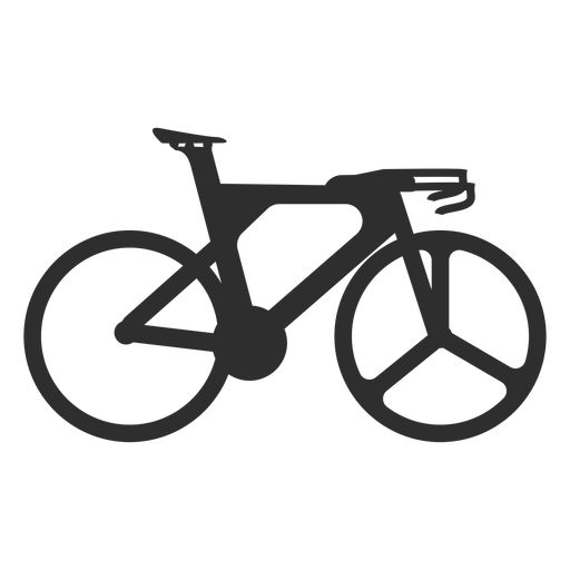 Olympic bike silhouette Transparent PNG