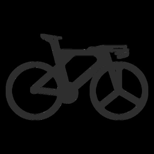 Olympic bike silhouette