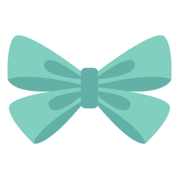 Organza bow type element flat