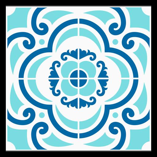 Diseño moteado de azulejos de adorno