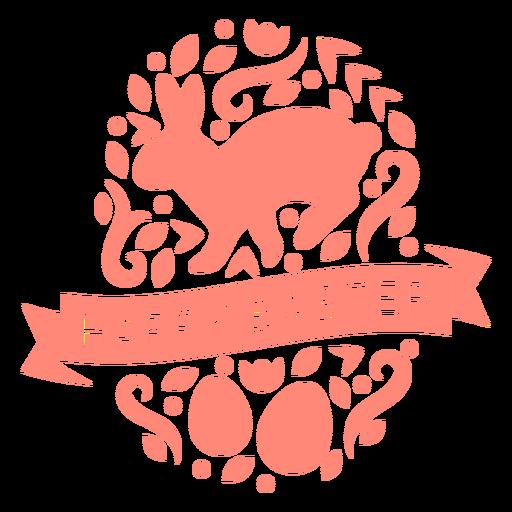 Adornado diseño de vinilo de pascua feliz pascua