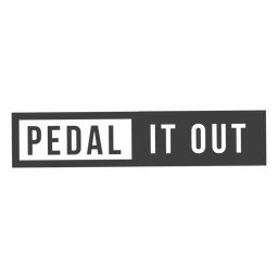 Pedal it out design