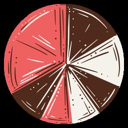 Gráfico de pizza mão desenhada