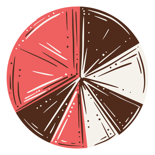 Pie chart hand drawn Transparent PNG