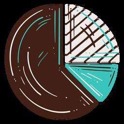 Elemento dibujado a mano gráfico circular