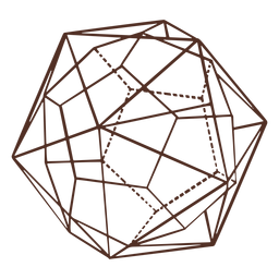 Polyhedron figures combined illustration