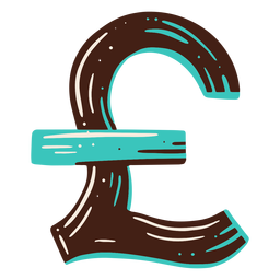 Símbolo de libra elemento de dibujo a mano alzada