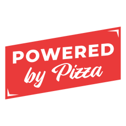 Desarrollado por entrenamiento de frase de pizza