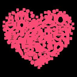 Composición del corazón de la historia de la princesa