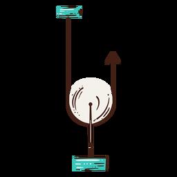 Ilustración de elemento de escuela secundaria de polea