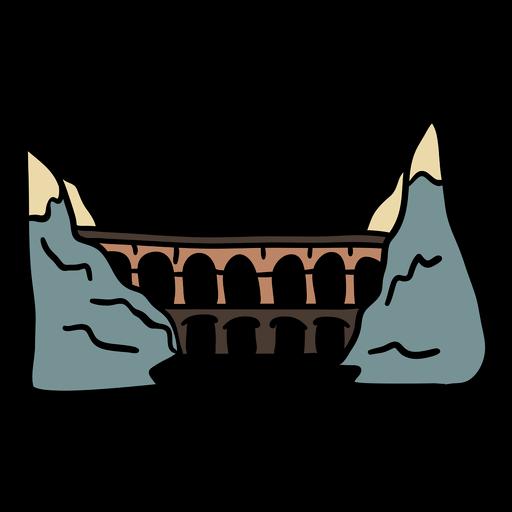 Railways austrian symbol handdrawn color