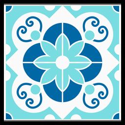 Rectangle flowered tile