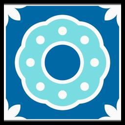 Rectangular tile pattern design