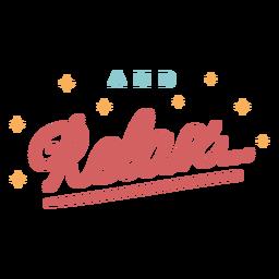 Relajarse letras vintage