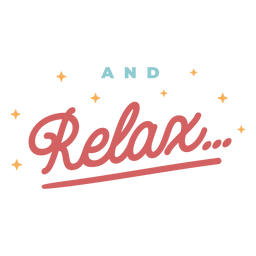 Relax vintage lettering
