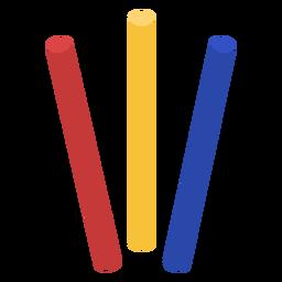 Design plano de bastões de corrida de revezamento