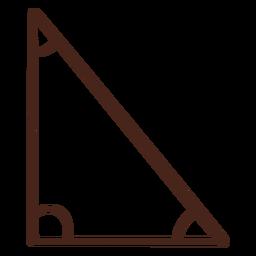 Triángulo rectángulo dibujado a mano