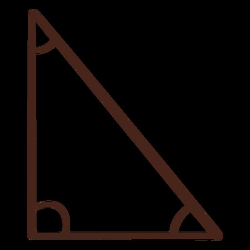 Dibujado a mano triángulo rectángulo