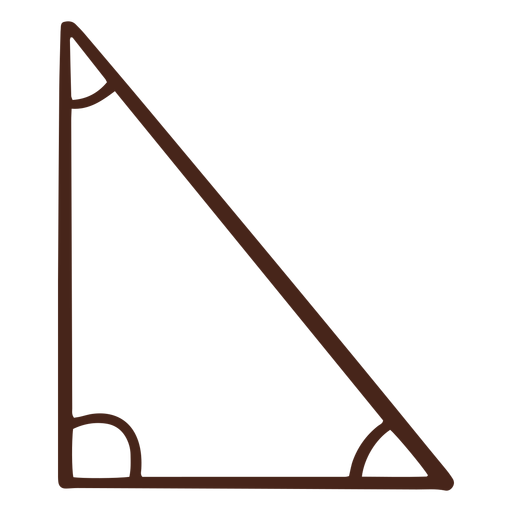 Right triangle hand drawn