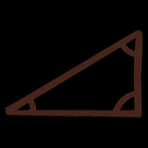 Ilustración de triángulo rectángulo