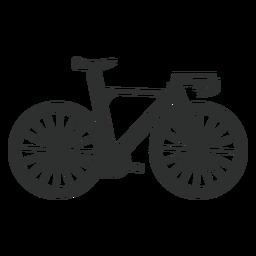 Silhueta de bicicleta de estrada