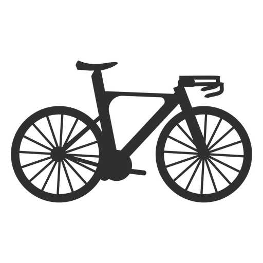 Road bike silhouette Transparent PNG