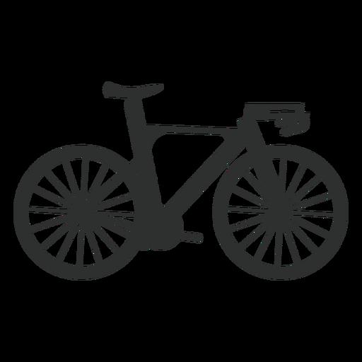 Silueta de bicicleta de carretera Transparent PNG