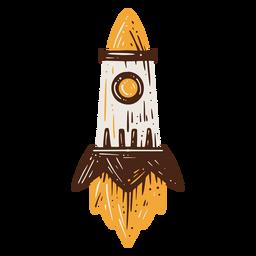 Elemento desenhado mão de foguete