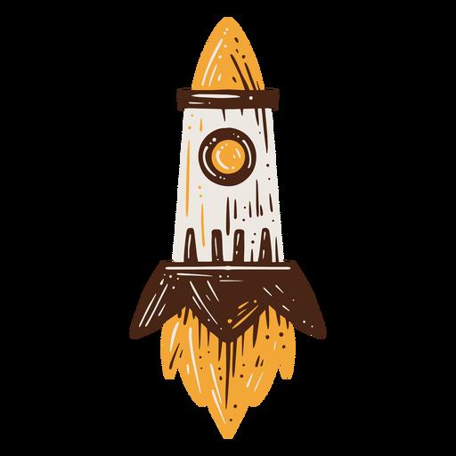 Elemento dibujado a mano dispositivo cohete