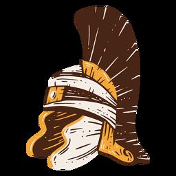 Dibujado a mano casco de soldado romano