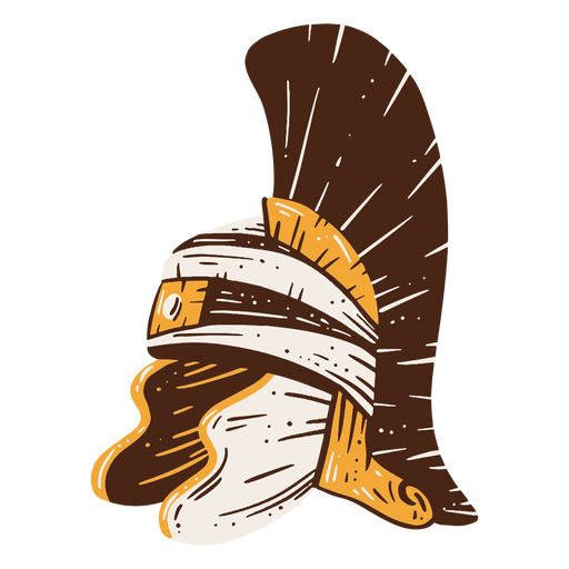 Roman soldier's helmet hand drawn