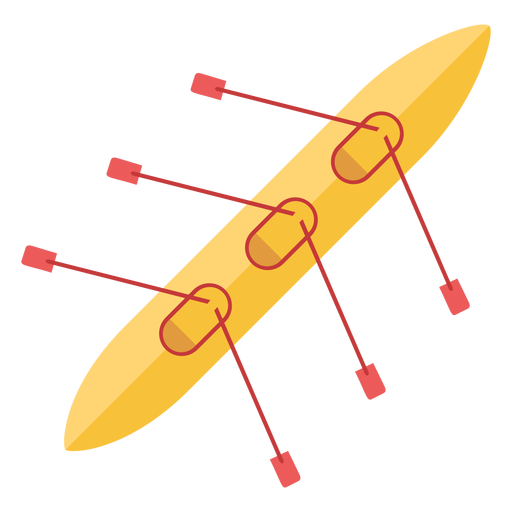 Bote de remos plana