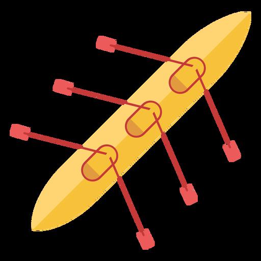Rowing boat flat