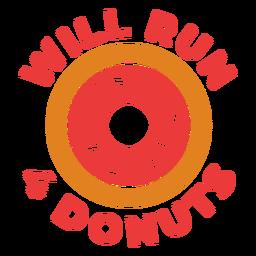 Faça 4 donuts com uma frase de treino engraçada