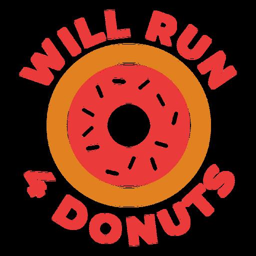 Ejecutar 4 donuts divertida frase de entrenamiento