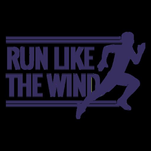 Corre como las letras del viento