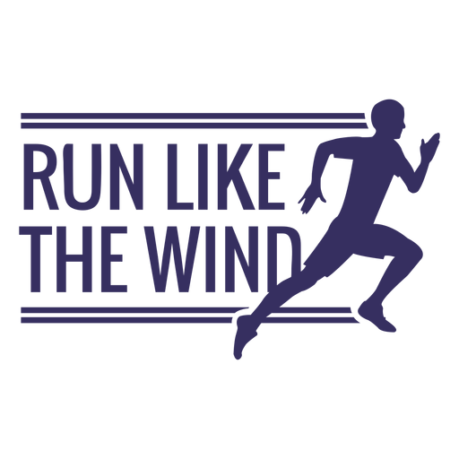 Run like the wind lettering