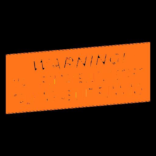 Runner talking warning lettering