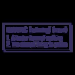 Running definition motivation lettering