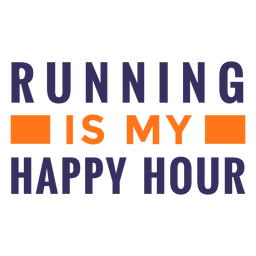 Running happy hour quote