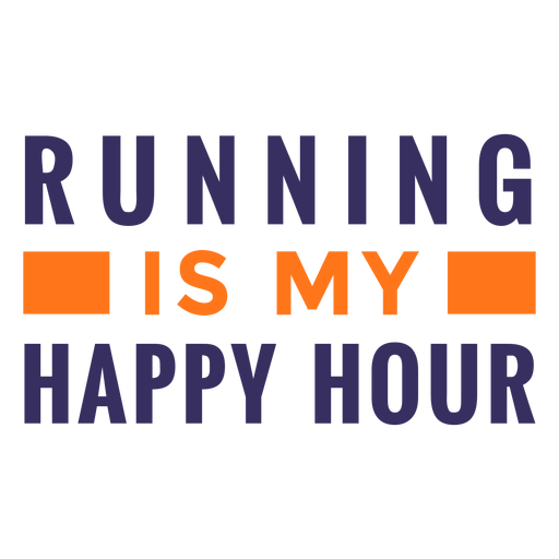 Running happy hour quote