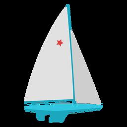 Barco à vela esporte radical plana