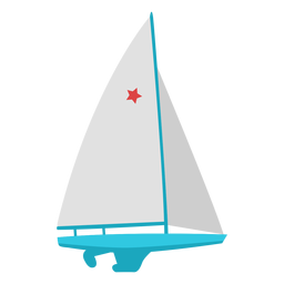 Sailing boat extreme sport flat