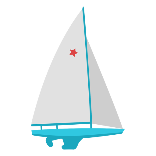 Sailing boat extreme sport flat Transparent PNG