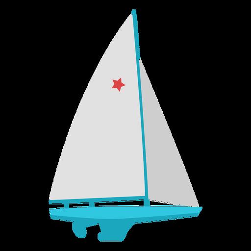Sailing boat extreme sport flat