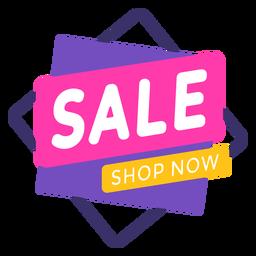Sale shop now label colorful