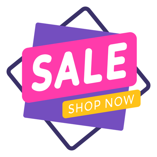 Venta tienda ahora etiqueta colorida Transparent PNG